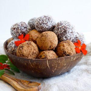 Coconut Chocolate Fudge Truffles