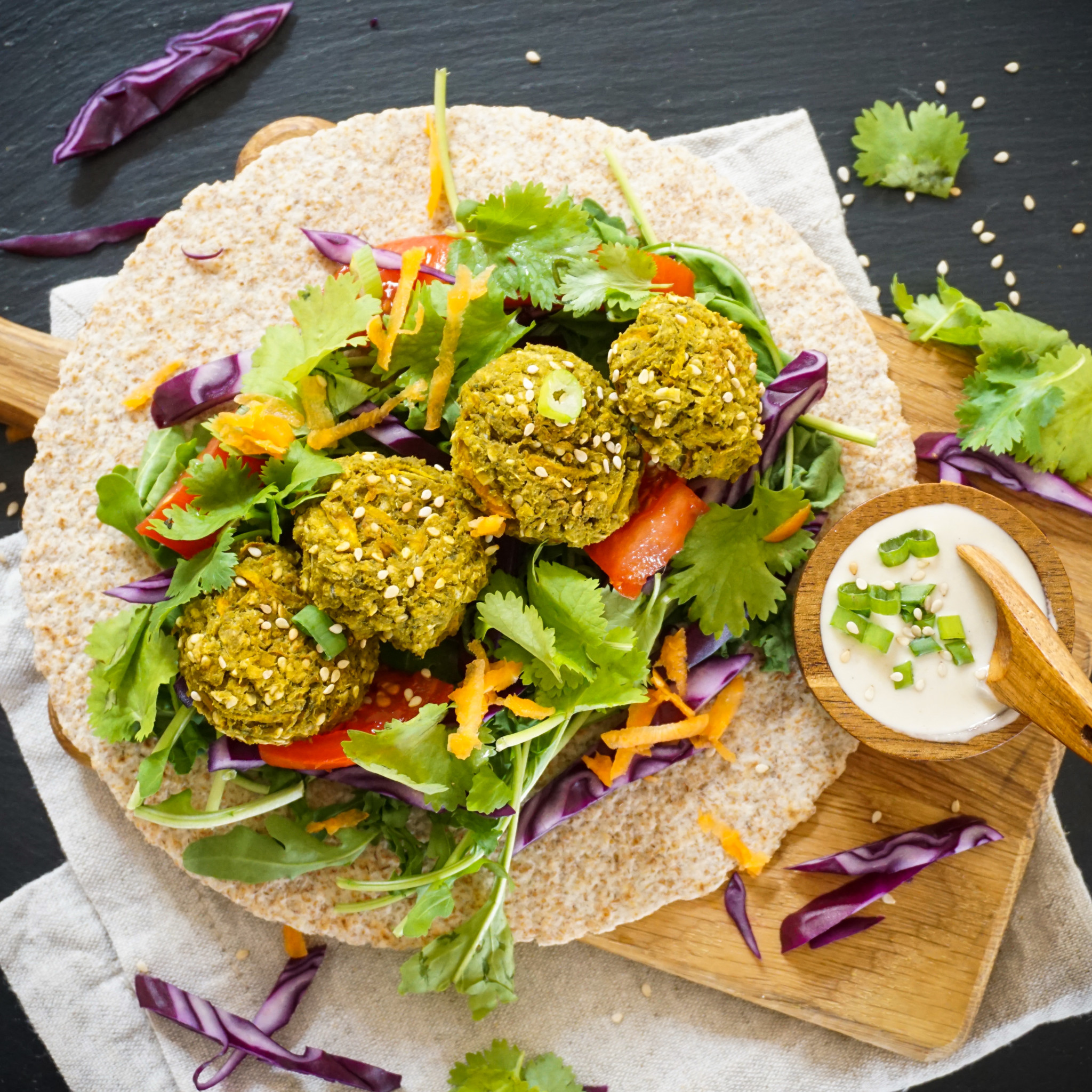 Hope In Middle East >> Healthy Spinach Falafel - The Tasty K