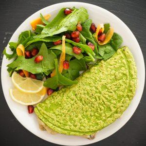 Mushroom Spinach Omelette