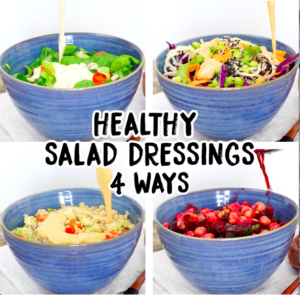 4 Healthy Salad Dressings (with my Optimum 9200A blender)