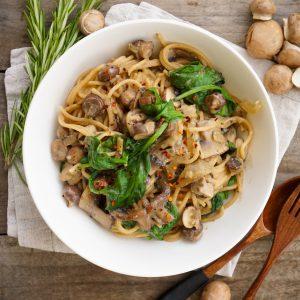 Mushroom Spinach One Pot Pasta