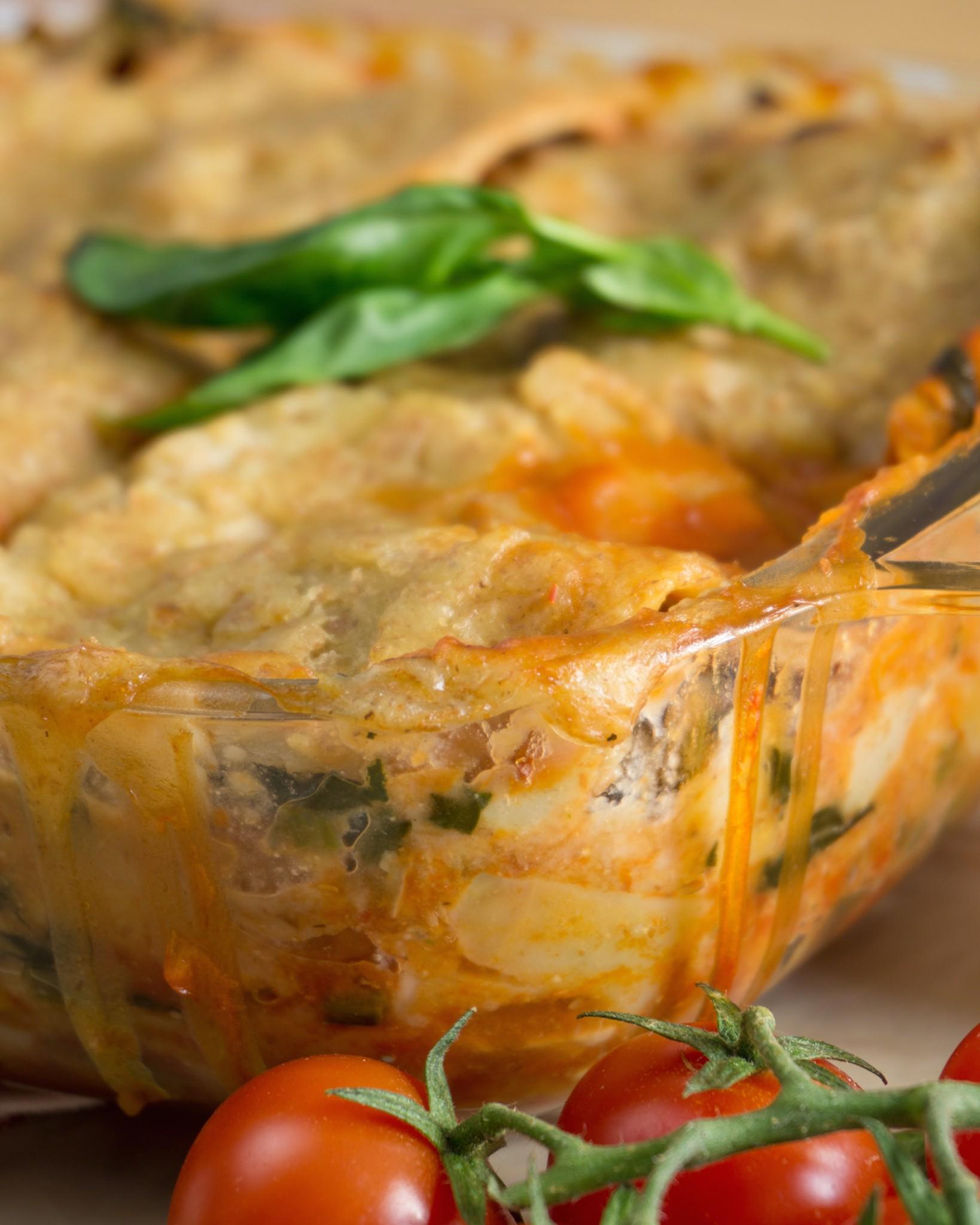Pulled Soya Lasagne