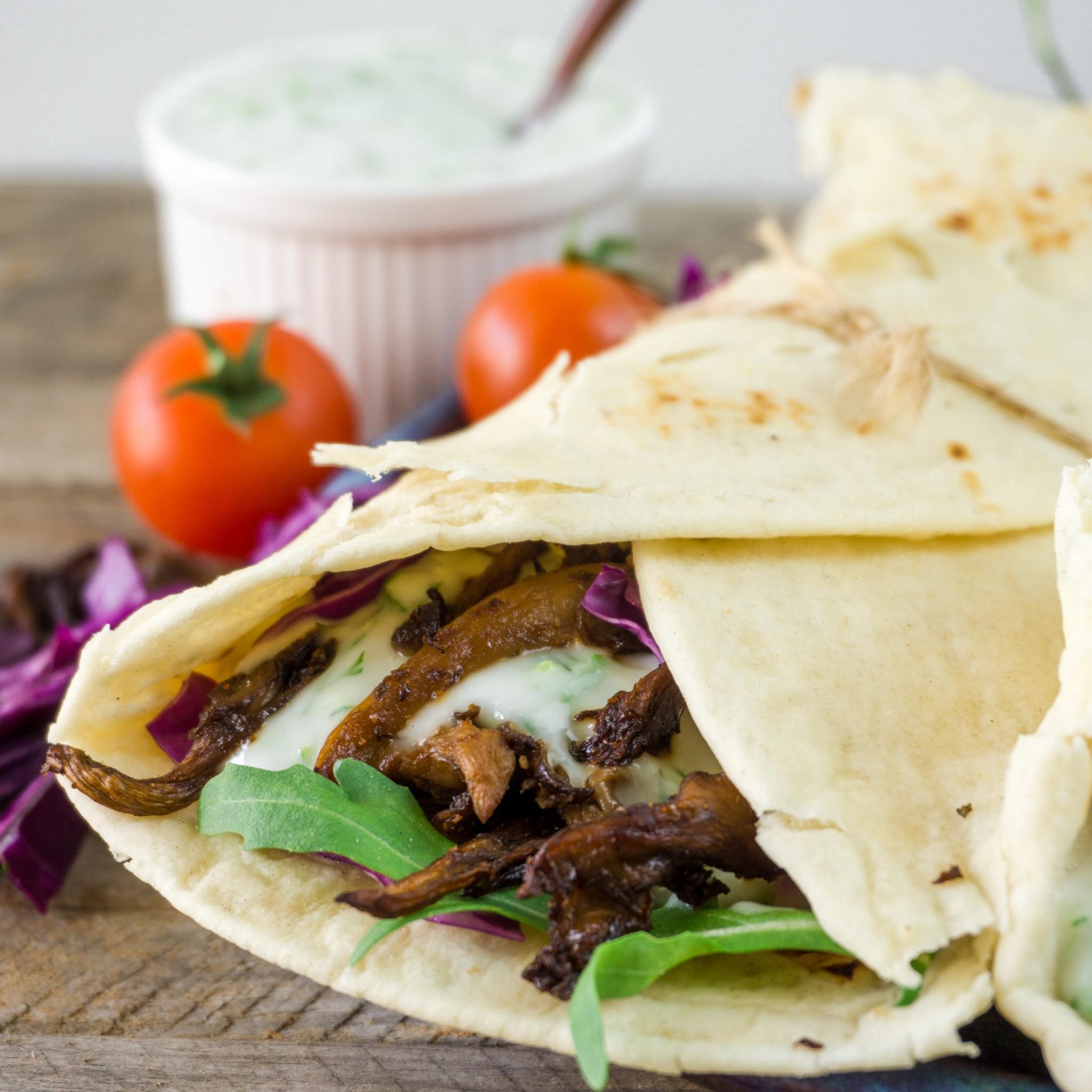 Vegan Mushroom Shawarma The Tasty K