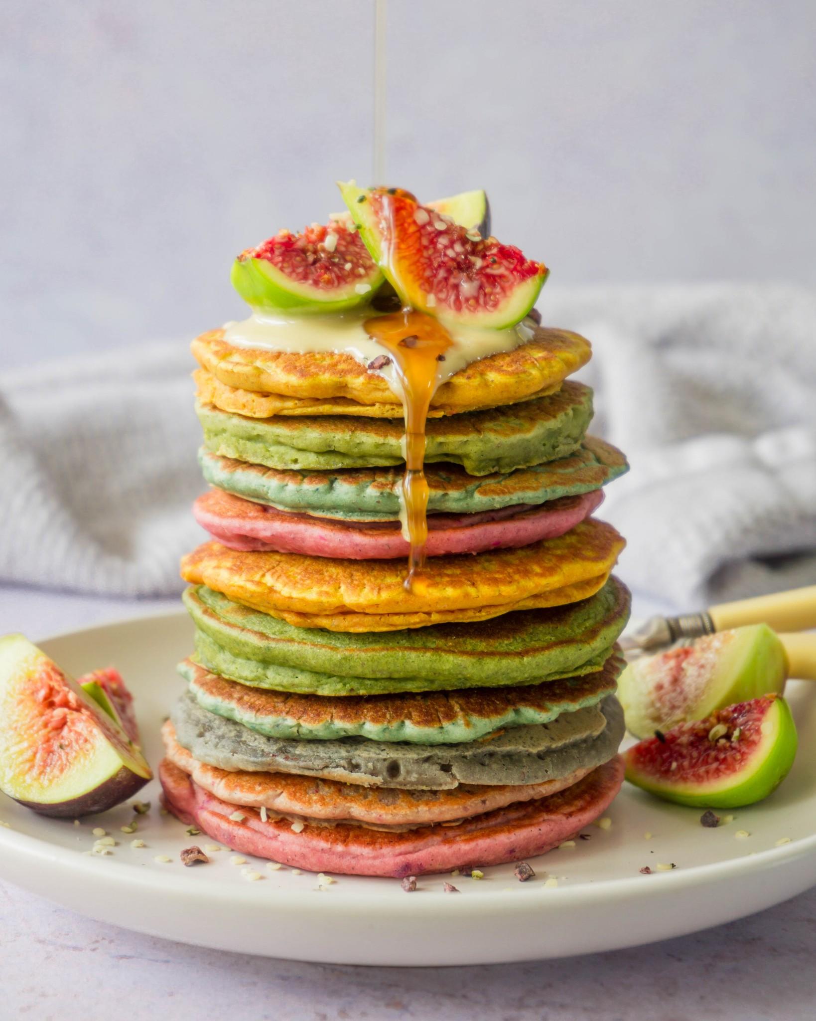 Vegan Rainbow Pancakes