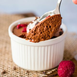 Aquafaba Chocolate Coffee Mousse