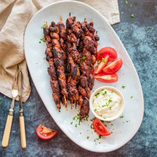 Vegan Meaty BBQ Skewers