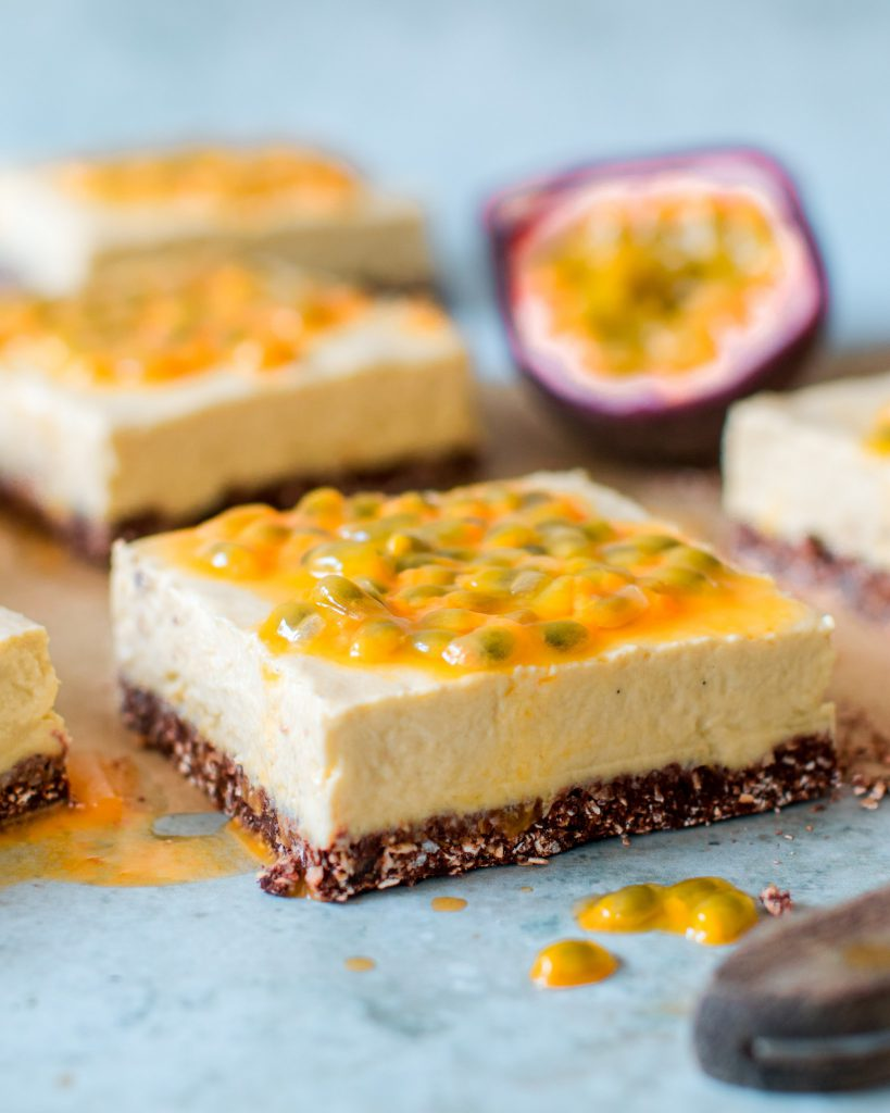 Passionfruit Yogurt Slice